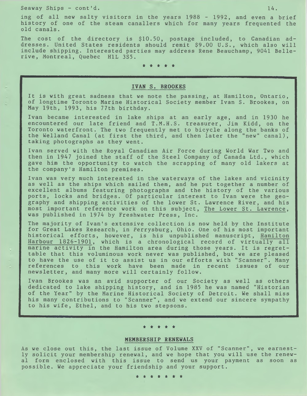 Scanner, v. 25, no. 9 (Mid-Summer 1993)