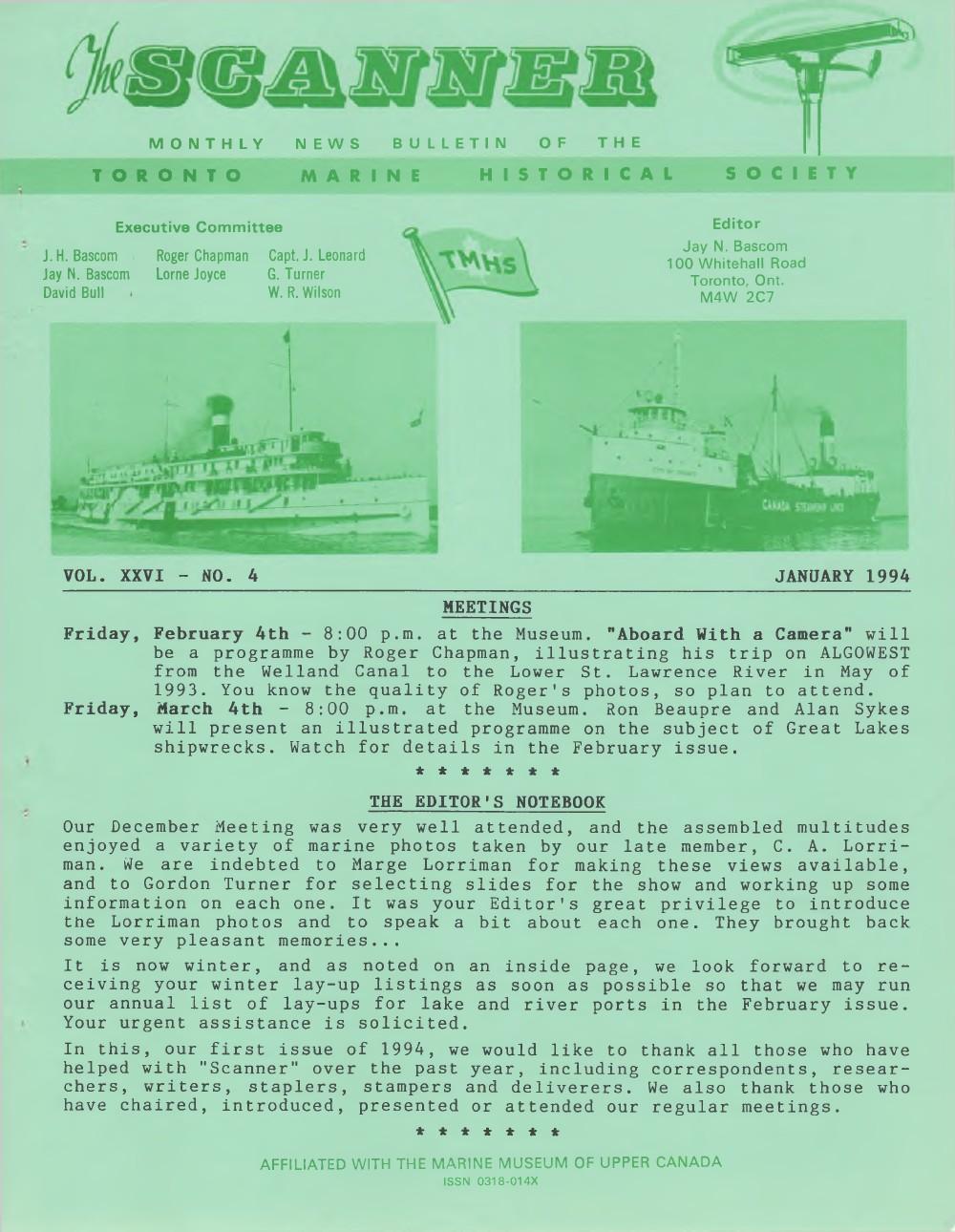 Scanner, v. 26, no. 4 (January 1994)