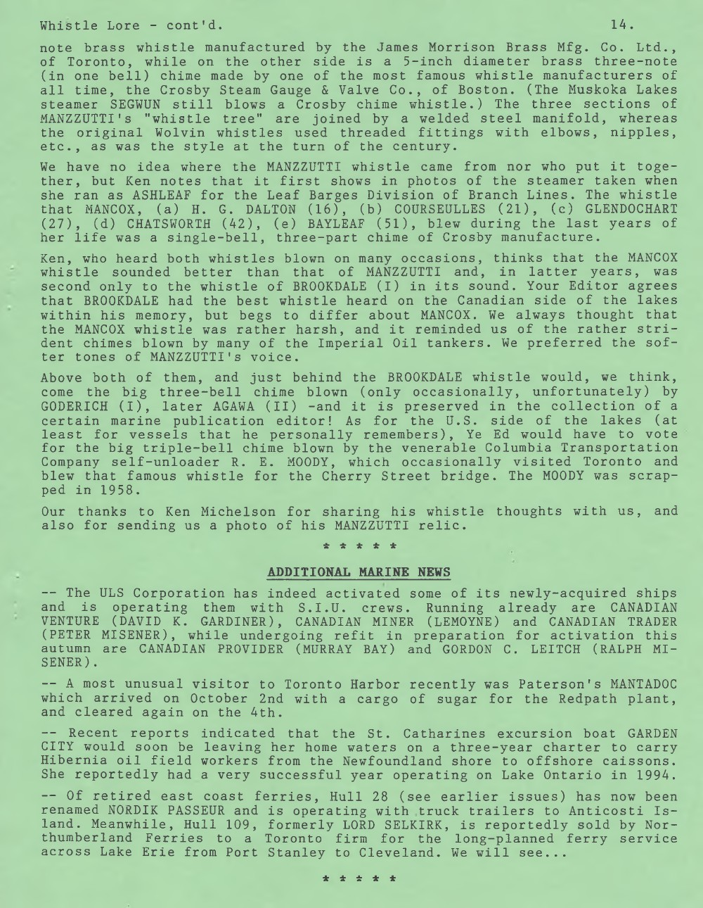 Scanner, v. 27, no. 1 (October 1994)