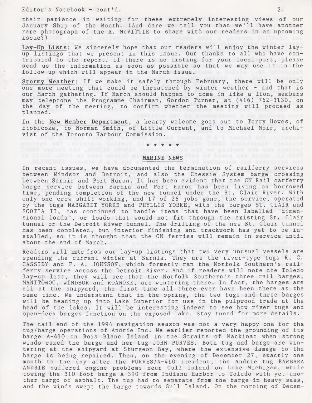 Scanner, v. 27, no. 5 (February 1995)