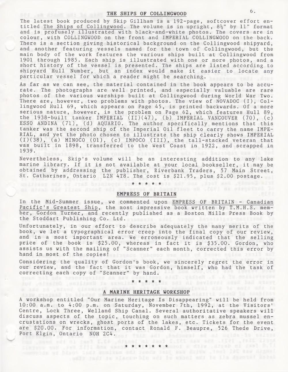 Scanner, v. 25, no. 1 (October 1992)