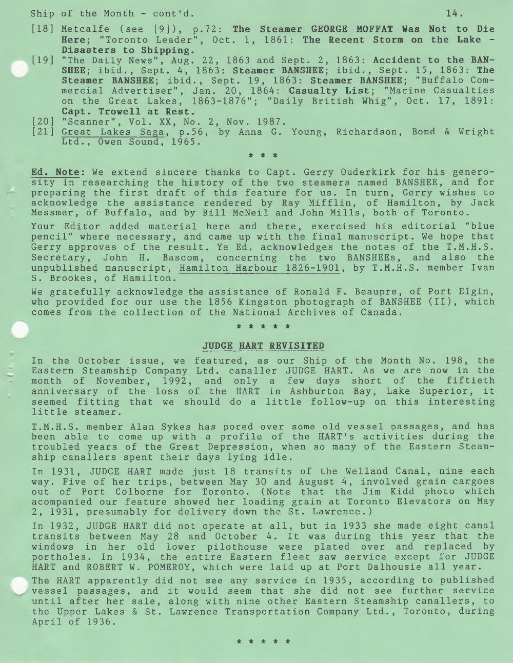 Scanner, v. 25, no. 2 (November 1992)