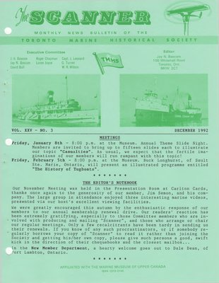 Scanner, v. 25, no. 3 (December 1992)