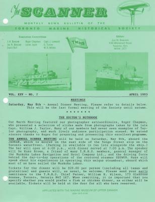 Scanner, v. 25, no. 7 (April 1993)