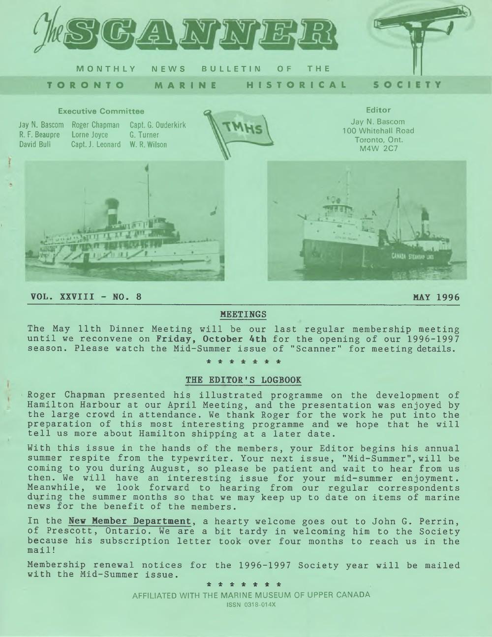 Scanner, v. 28, no. 8 (May 1996)