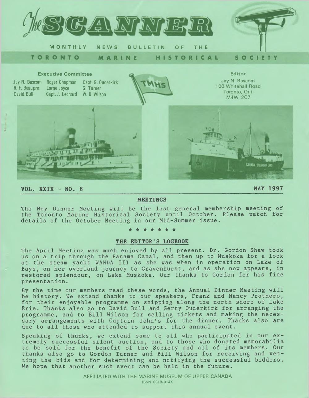 Scanner, v. 29, no. 8 (May 1997)