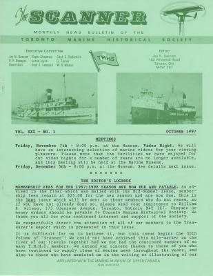 Scanner, v. 30, no. 1 (October 1997)