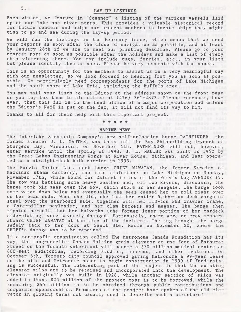 Scanner, v. 30, no. 3 (December 1997)