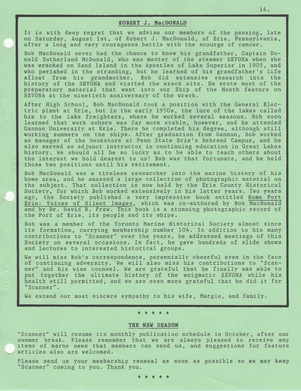 Scanner, v. 30, no. 9 (Mid-Summer 1998)