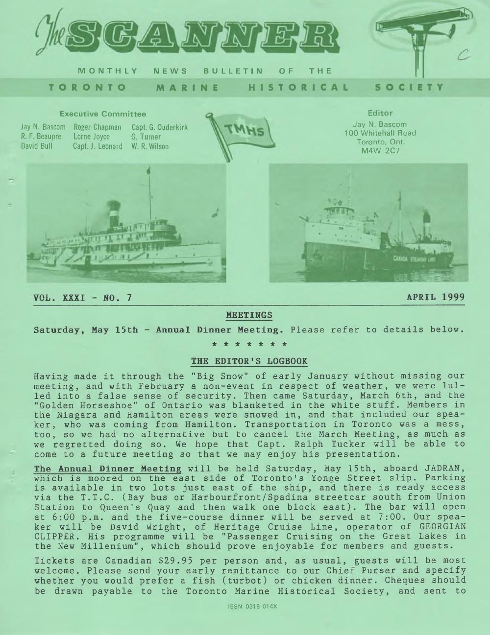 Scanner, v. 31, no. 7 (April 1999)