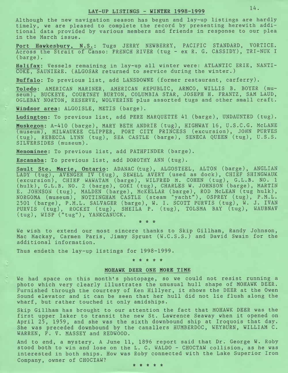 Scanner, v. 31, no. 7 (April 1999)