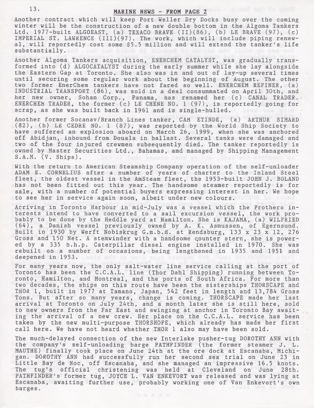 Scanner, v. 31, no. 9 (Mid-Summer 1999)
