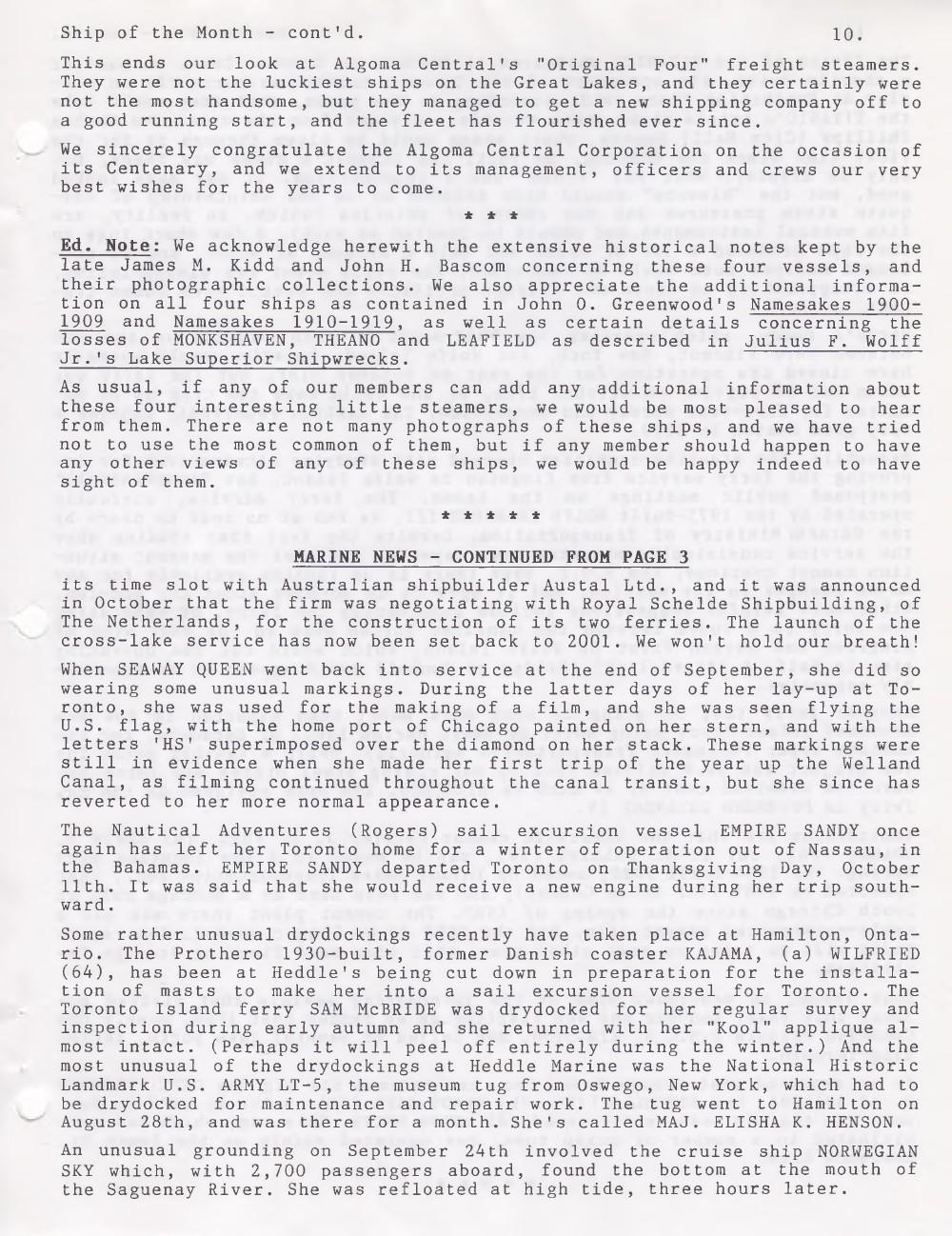 Scanner, v. 32, no. 2 (November 1999)