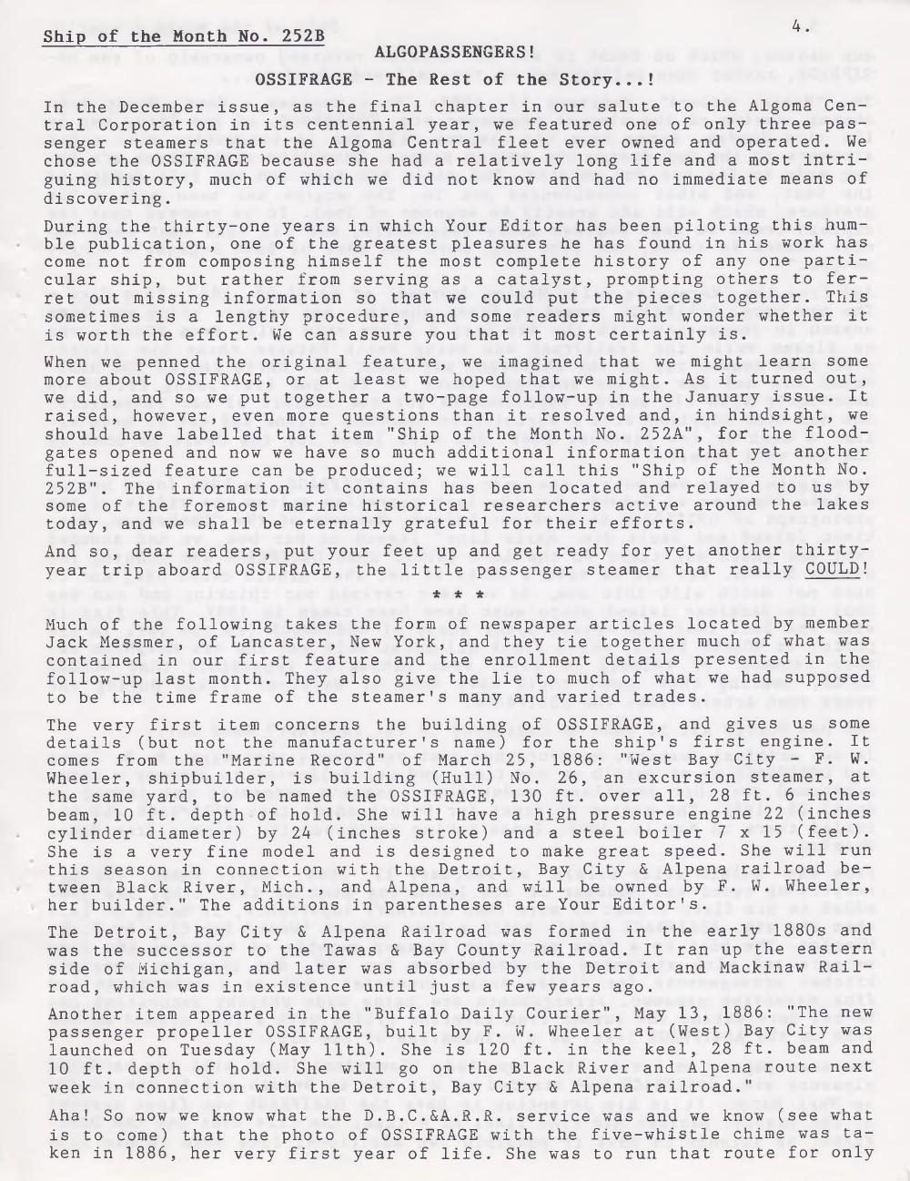 Scanner, v. 32, no. 5 (February 2000)