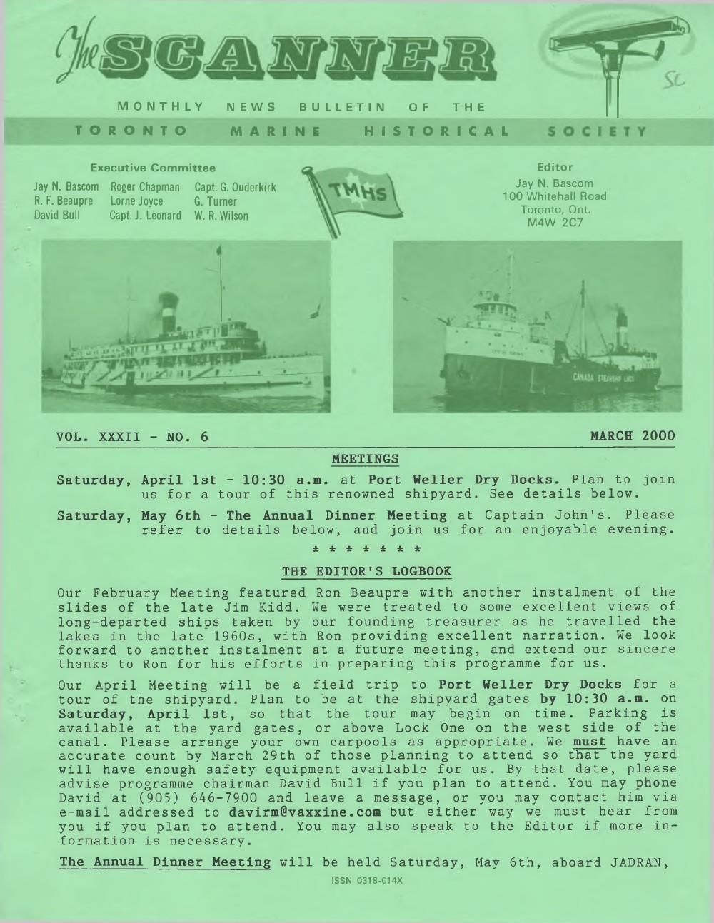 Scanner, v. 32, no. 6 (March 2000)