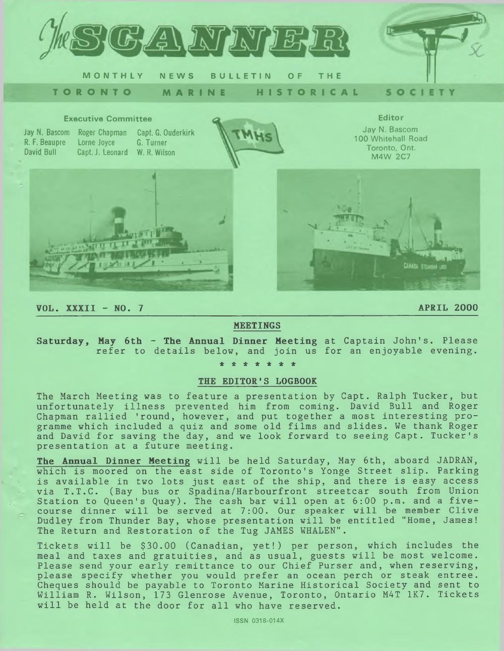 Scanner, v. 32, no. 7 (April 2000)