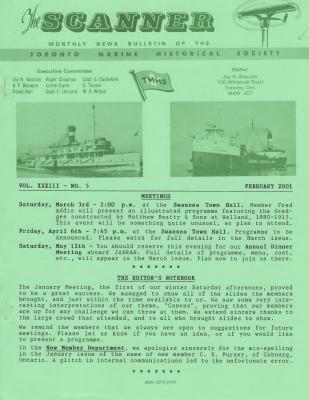 Scanner, v. 33, no. 5 (February 2001)