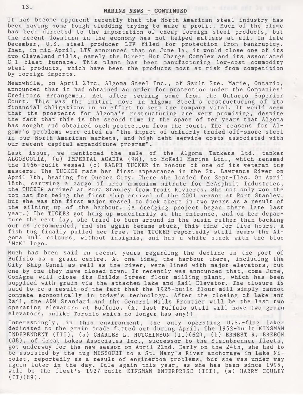 Scanner, v. 33, no. 8 (May 2001)