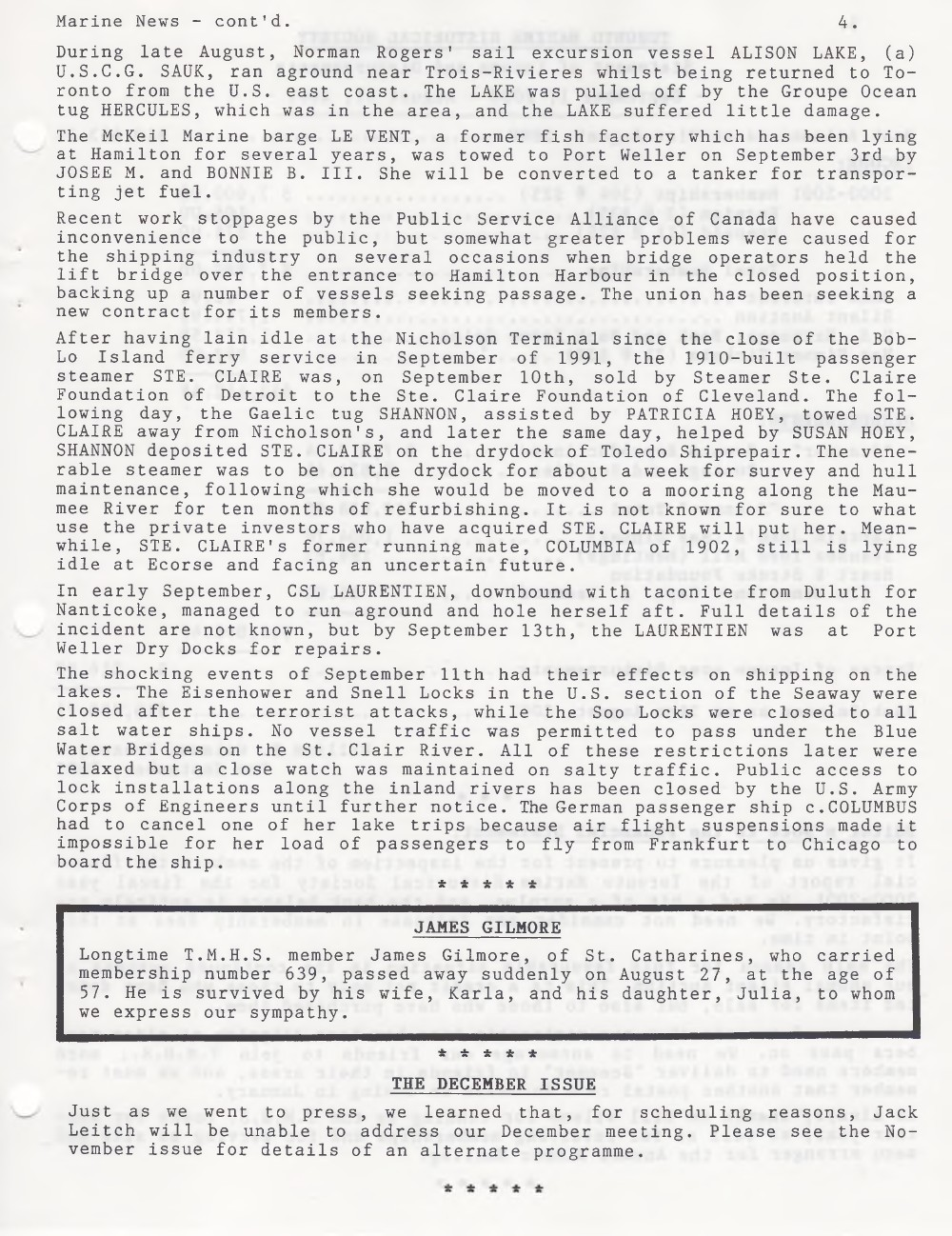 Scanner, v. 34, no. 1 (October 2001)