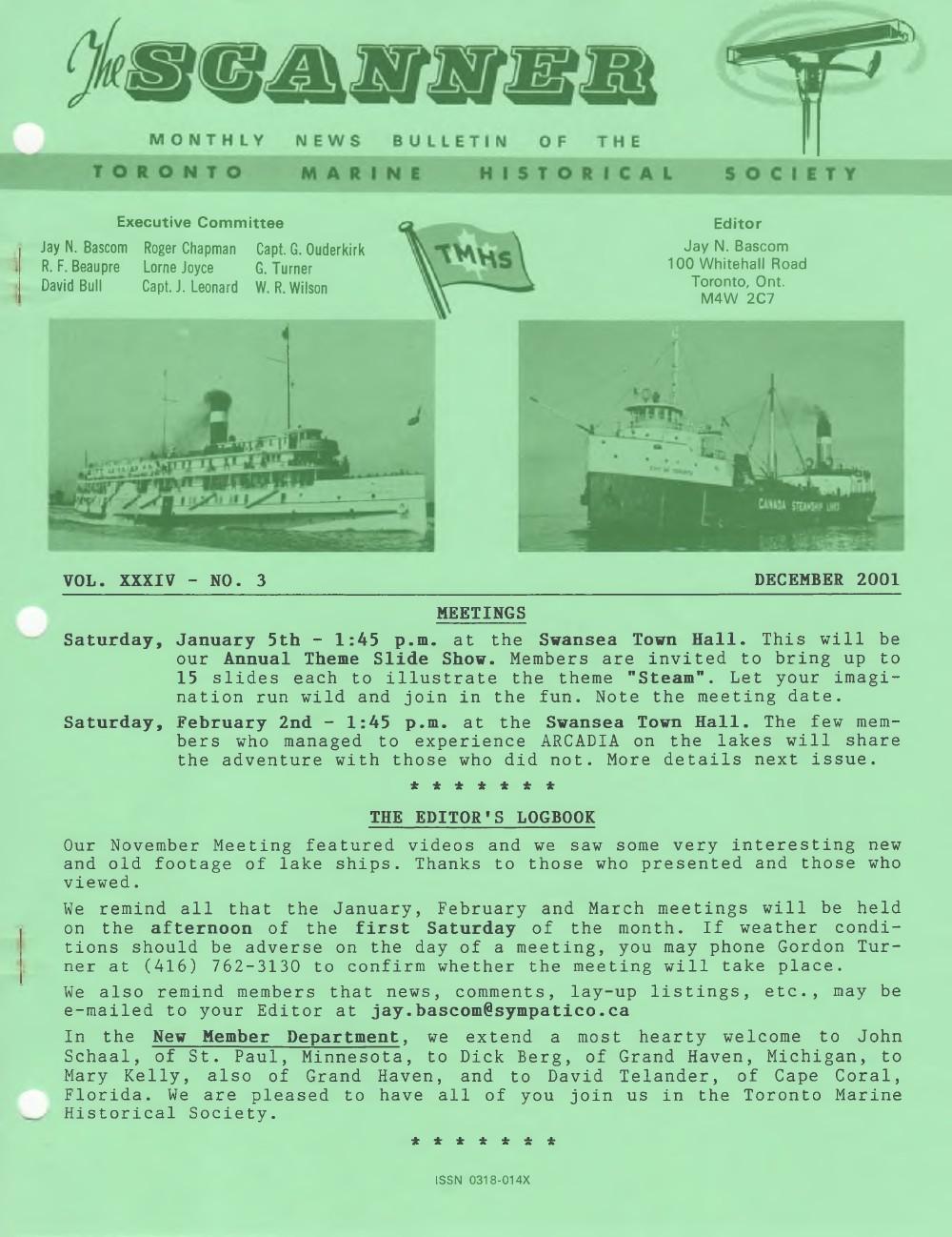 Scanner, v. 34, no. 3 (December 2001)