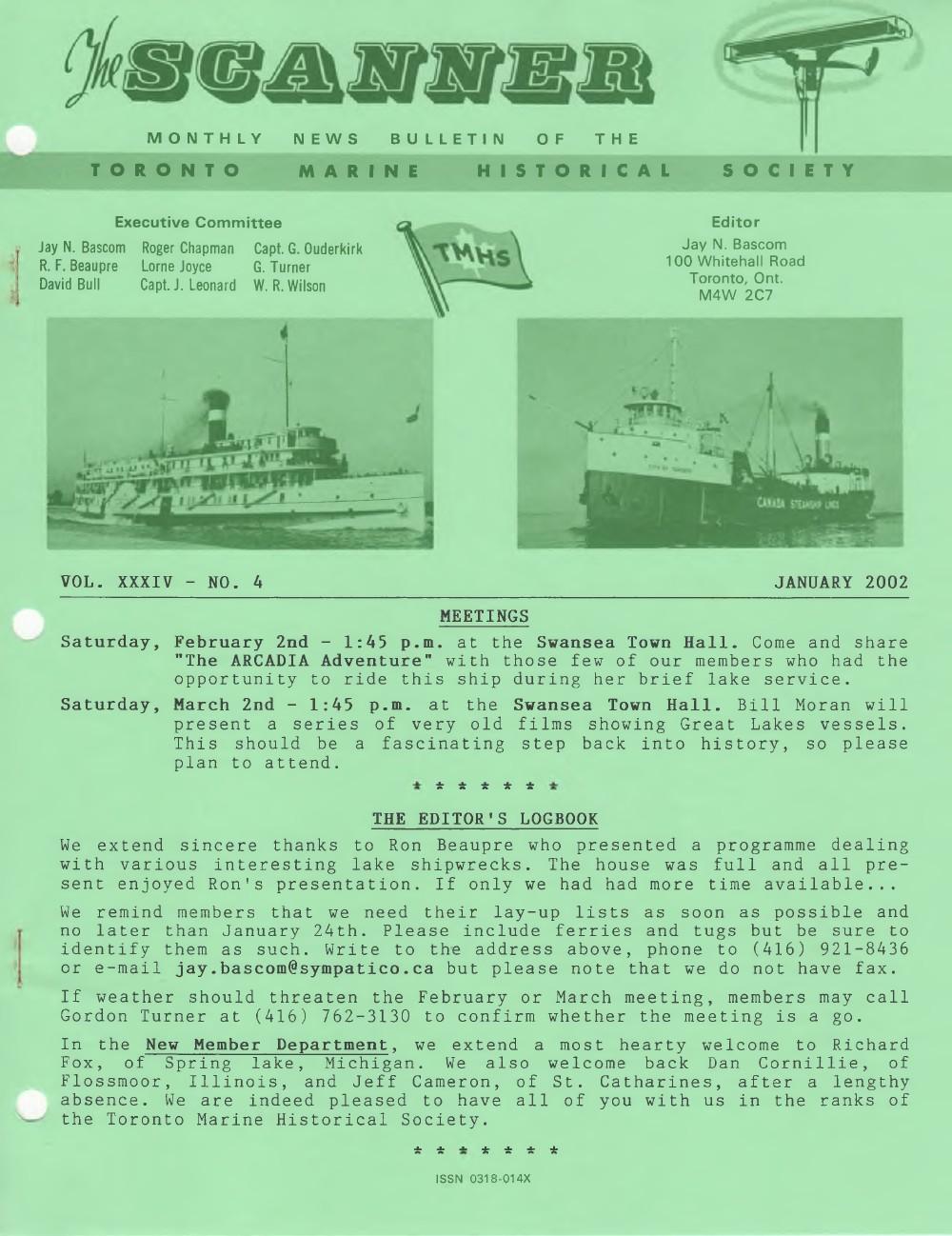 Scanner, v. 34, no. 4 (January 2002)