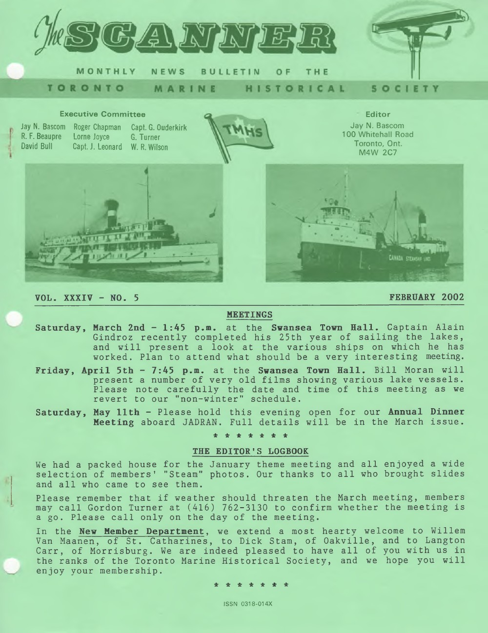 Scanner, v. 34, no. 5 (February 2002)