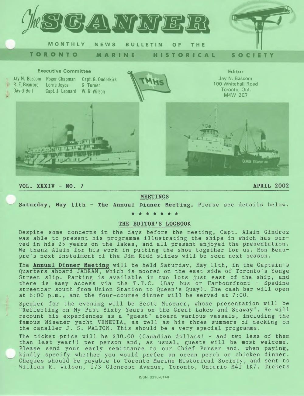 Scanner, v. 34, no. 7 (April 2002)