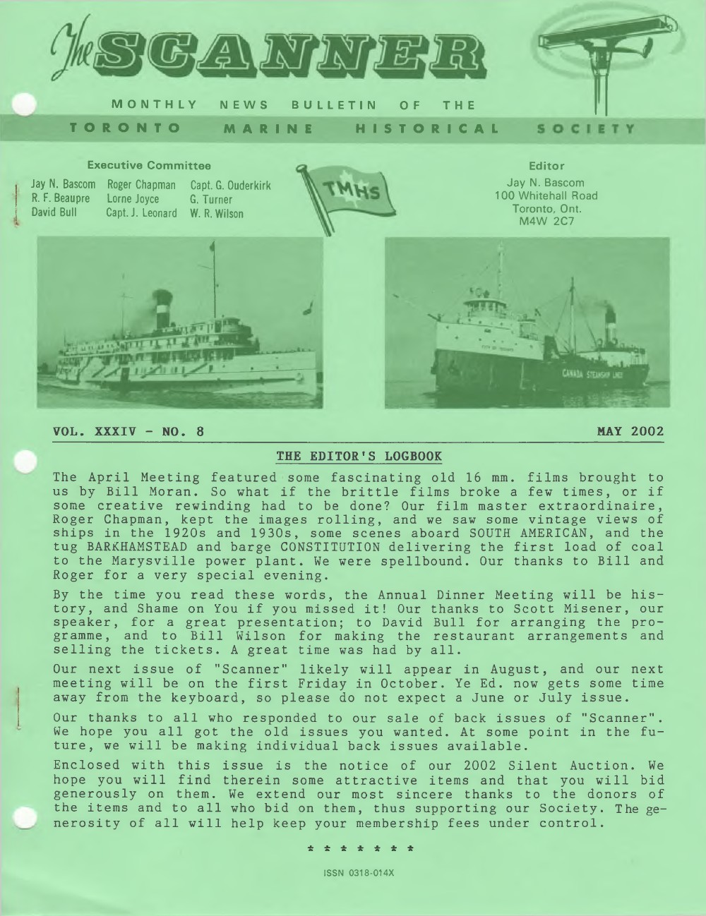 Scanner, v. 34, no. 8 (May 2002)