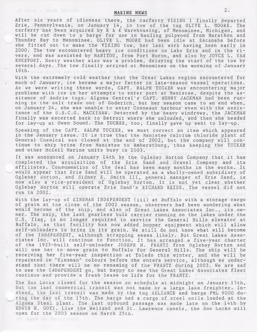 Scanner, v. 35, no. 5 (February 2003)