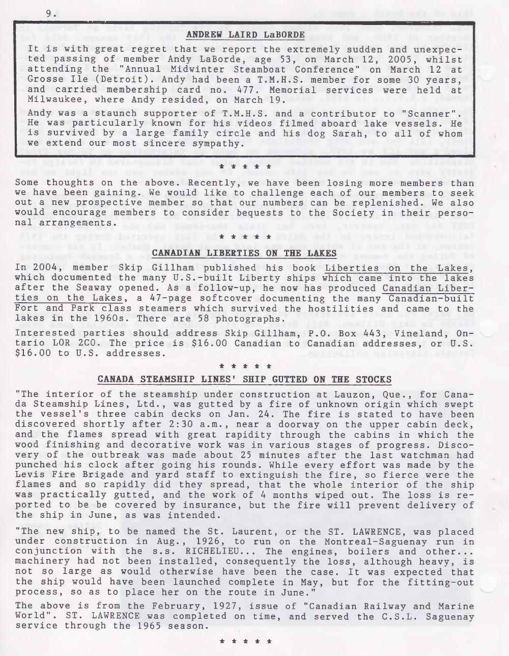 Scanner, v. 37, no. 6 (April 2005)