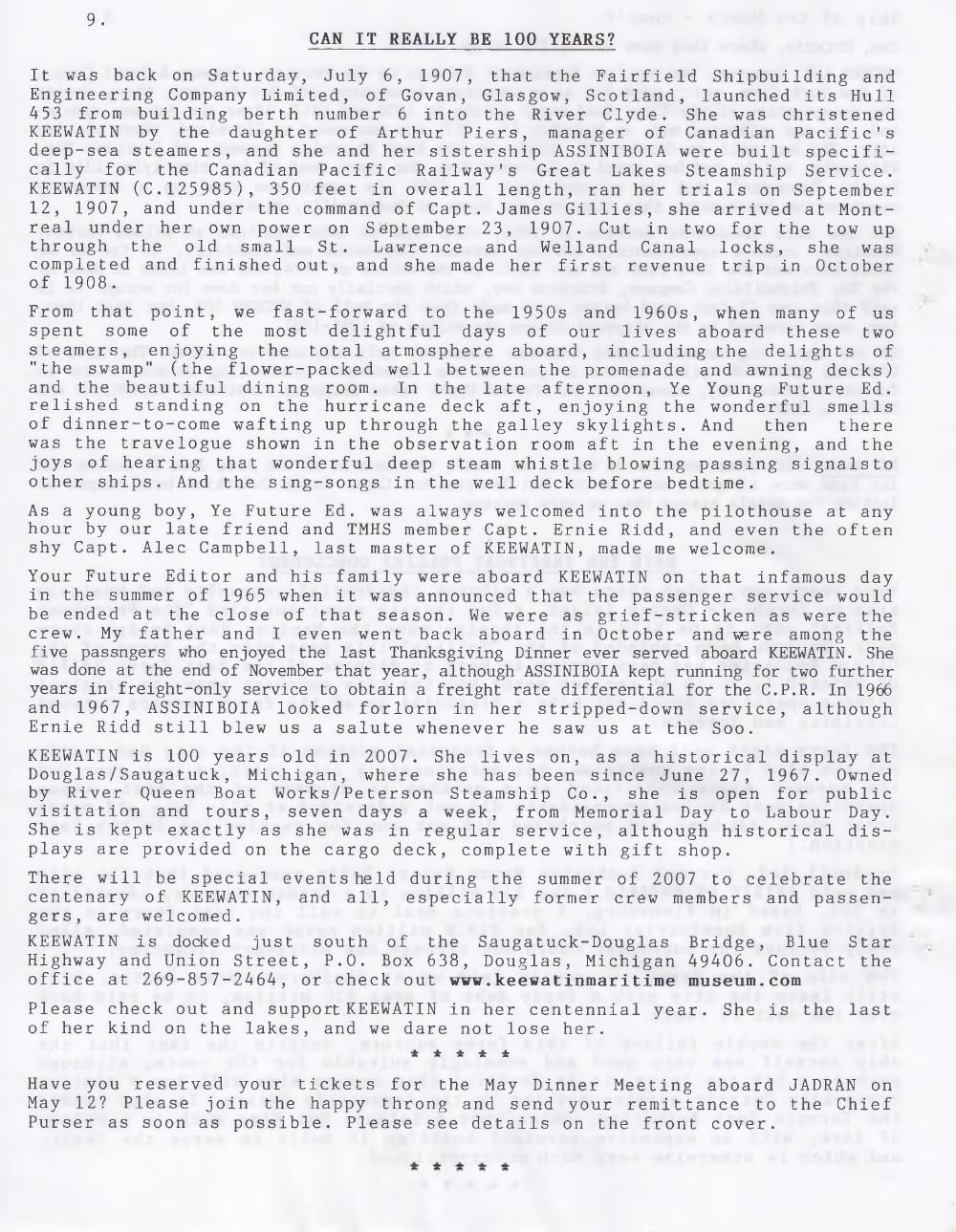 Scanner, v. 39, no. 6 (April 2007)
