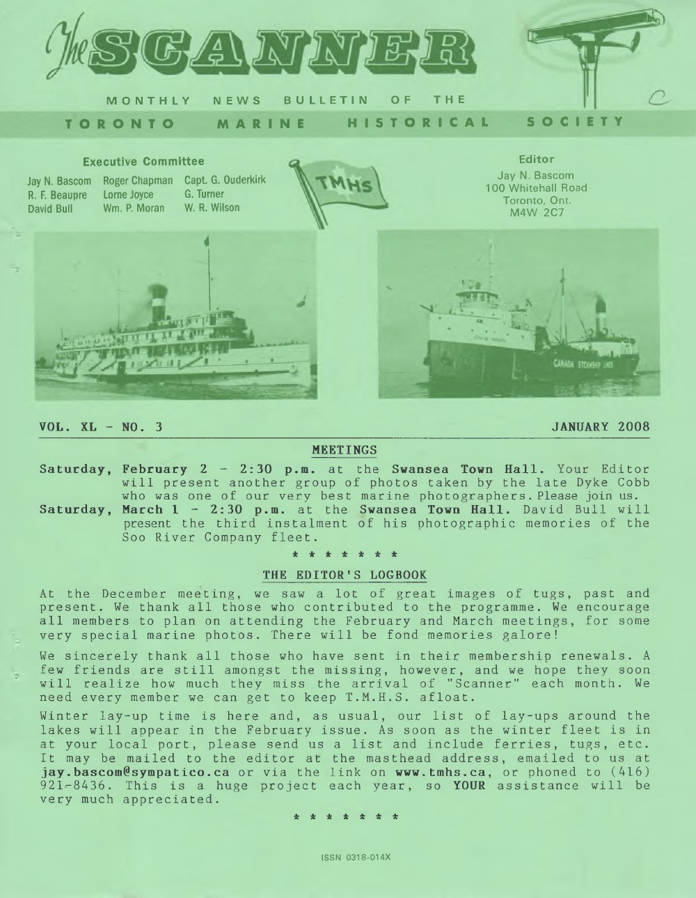 Scanner, v. 40, no. 3 (January 2008)