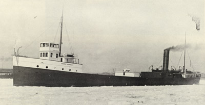 JOHN OWEN in ice above the Soo Locks