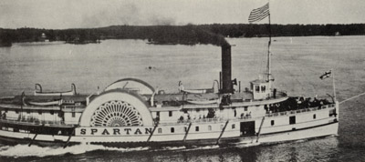 SPARTAN leaving Alexandria Bay, N. Y.
