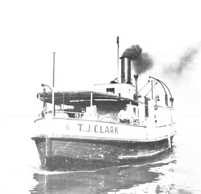 T. J. CLARK approaches Ward's Island dock