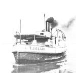T. J. CLARK approaches Ward's Island dock
