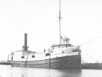 SIR S. L. TILLEY in the Third Welland Canal near Port Dalhousie