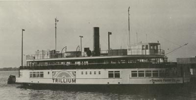 TRILLIUM at the Bay Street ferry docks