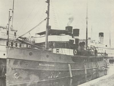 BELLECHASSE in Owen Sound moored alongside CARIBOU with MANITOULIN