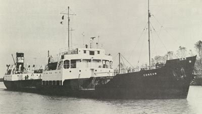 CONGAR in the Welland Canal below Lock Two