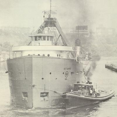 W.F. WHITE in the Cuyahoga River