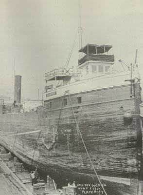 SARNOR in drydock at Buffalo