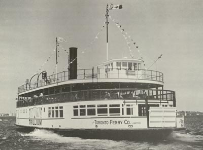 Toronto Island ferry TRILLIUM departing Hanlan's Point