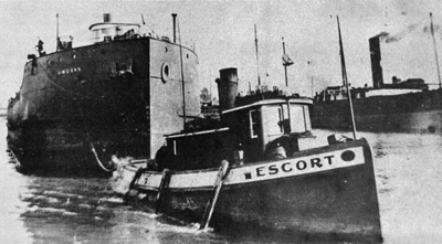 ESCORT at Port Dalhousie with the barge UNGAVA