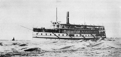 COLUMBIAN runs the Lachine Rapids in 1898