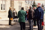 Milton Heritage Day. 1993. Jim Dills beginning Historic Walking Tour of Milton