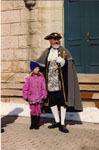 Milton Heritage Day 1993. The Tottenham Town Crier, Raph Wilding with Heather O'Keefe.