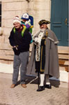 Milton Heritage Day.  1993.  The Tottenham Town Crier, Ralph Wilding with Richard Schertzer and son Daniel.
