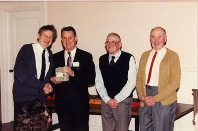 Milton Heritage 1993.  Neil Ford, Mayor Gordon Krantz, Gordon Raynor and Gordon Hume