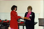 Milton Heritage Awards, 1993.  Dorrie Greig, chair Heritage Milton LACAC, and Phyllis Moore.
